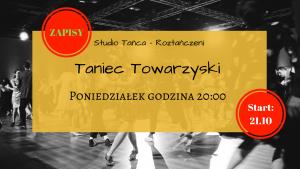 ZAPISY – Taniec Towarzyski – poniedziałek godzina 20:00