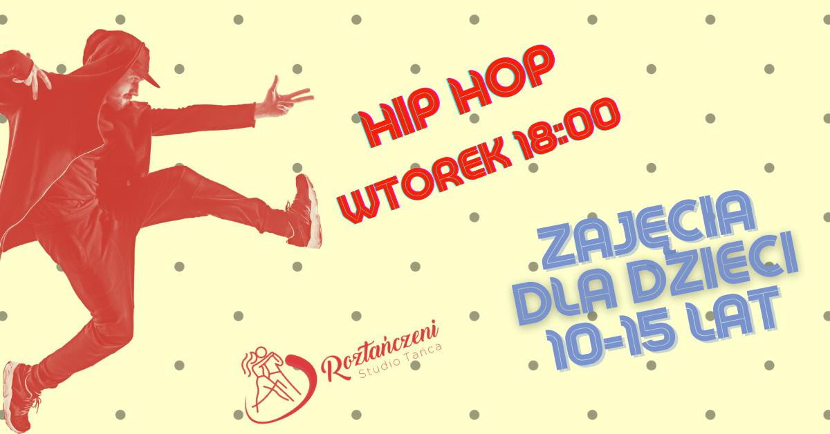 Hip-Hop dla Dzieci 10-15 lat – Bezpłatne Zajęcia Pokazowe – Wtorek 22.09 o 18:00